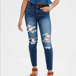 AEO high rise destroyed jeggings!